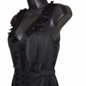 EXPRESS Black Ruffle Dressy Sleeveless Top~XS